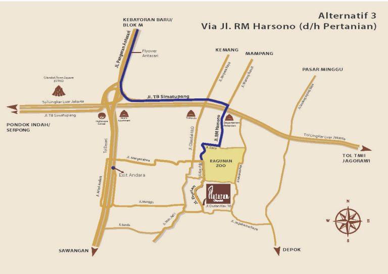 Via Jl. RM Harsono