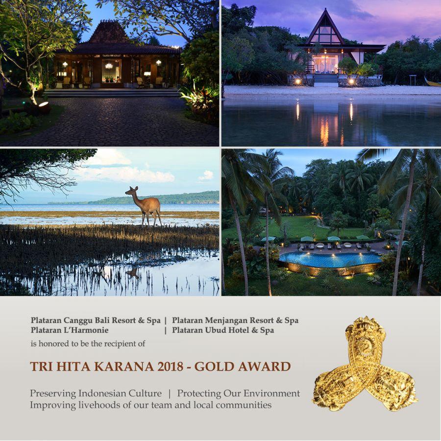 Plataran Indonesia Received 4 Tri Hita Karana 2018 Bali Awards