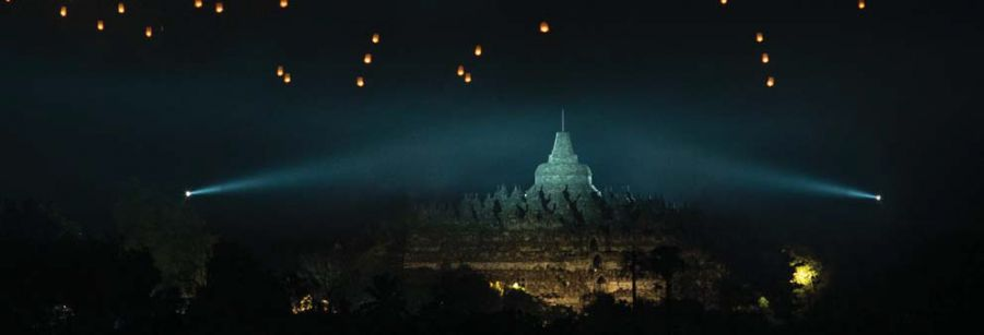 A Thousand Lights Above Borobudur