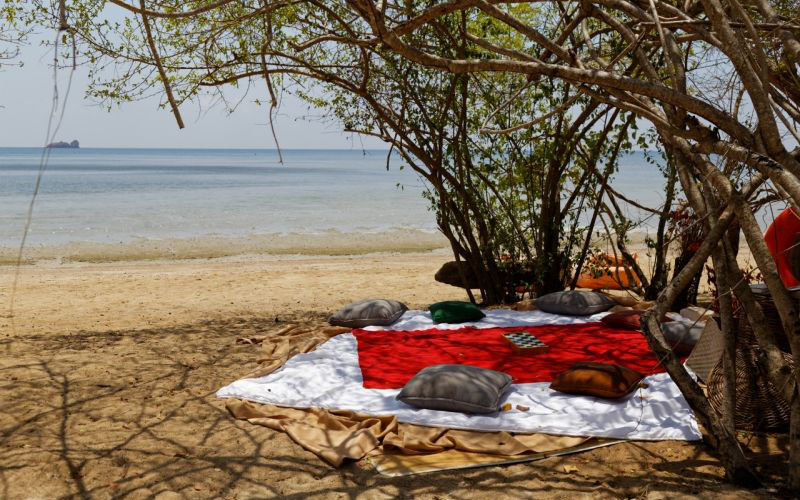outdoor picnic on the beach ,plataran